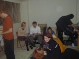 (Conrad), Amanda, Rob, (Sonya), (Orallie), (Sima), (Flea), (Raz), (Jimbo)